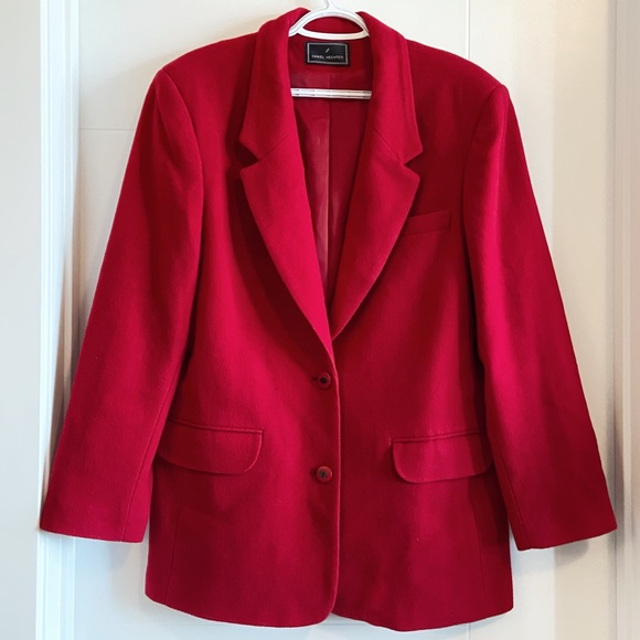 Daniel hechter wool and cashmere red blazer